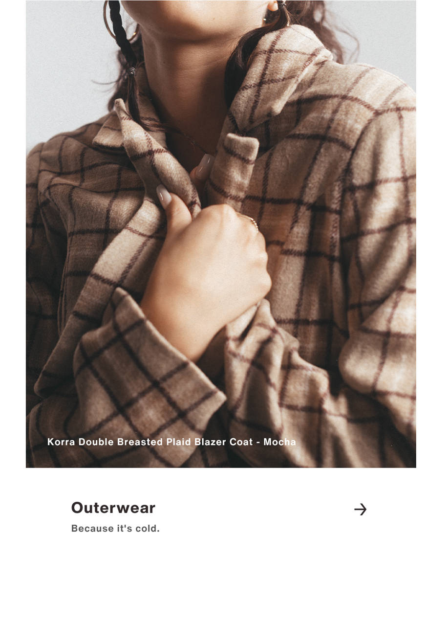 Outerwear - Because it is Cold.