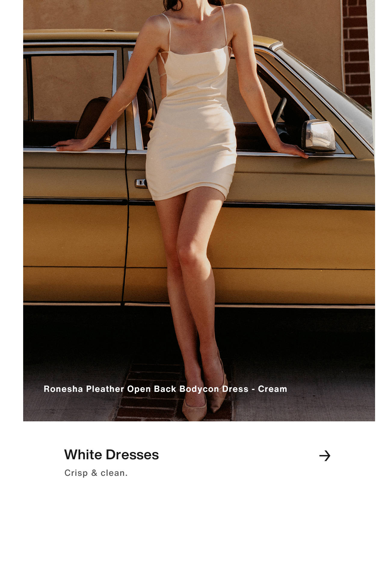 White Dresses - Classic & crisp.