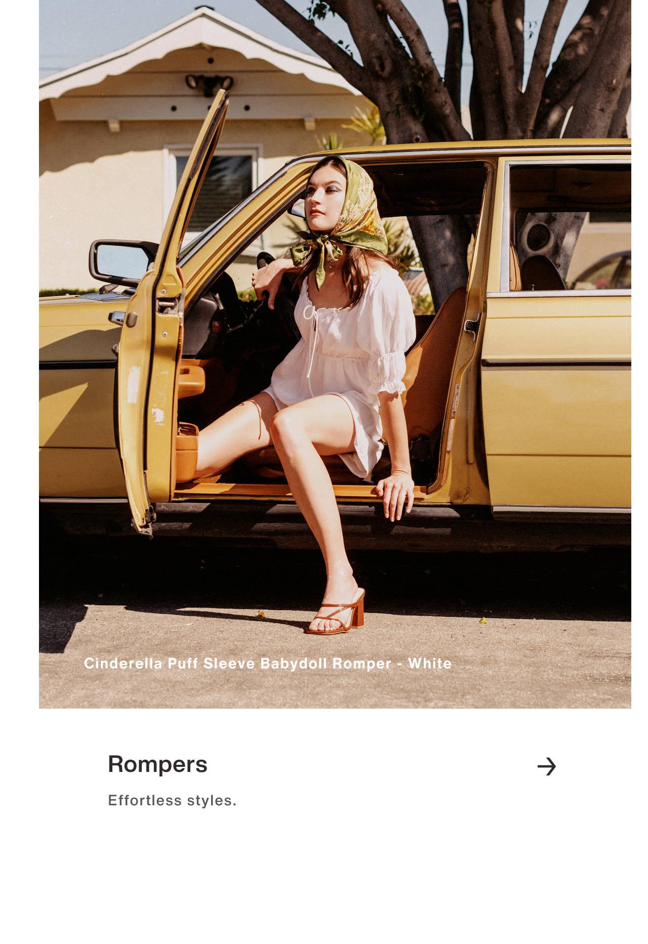 Rompers - Effortless styles.