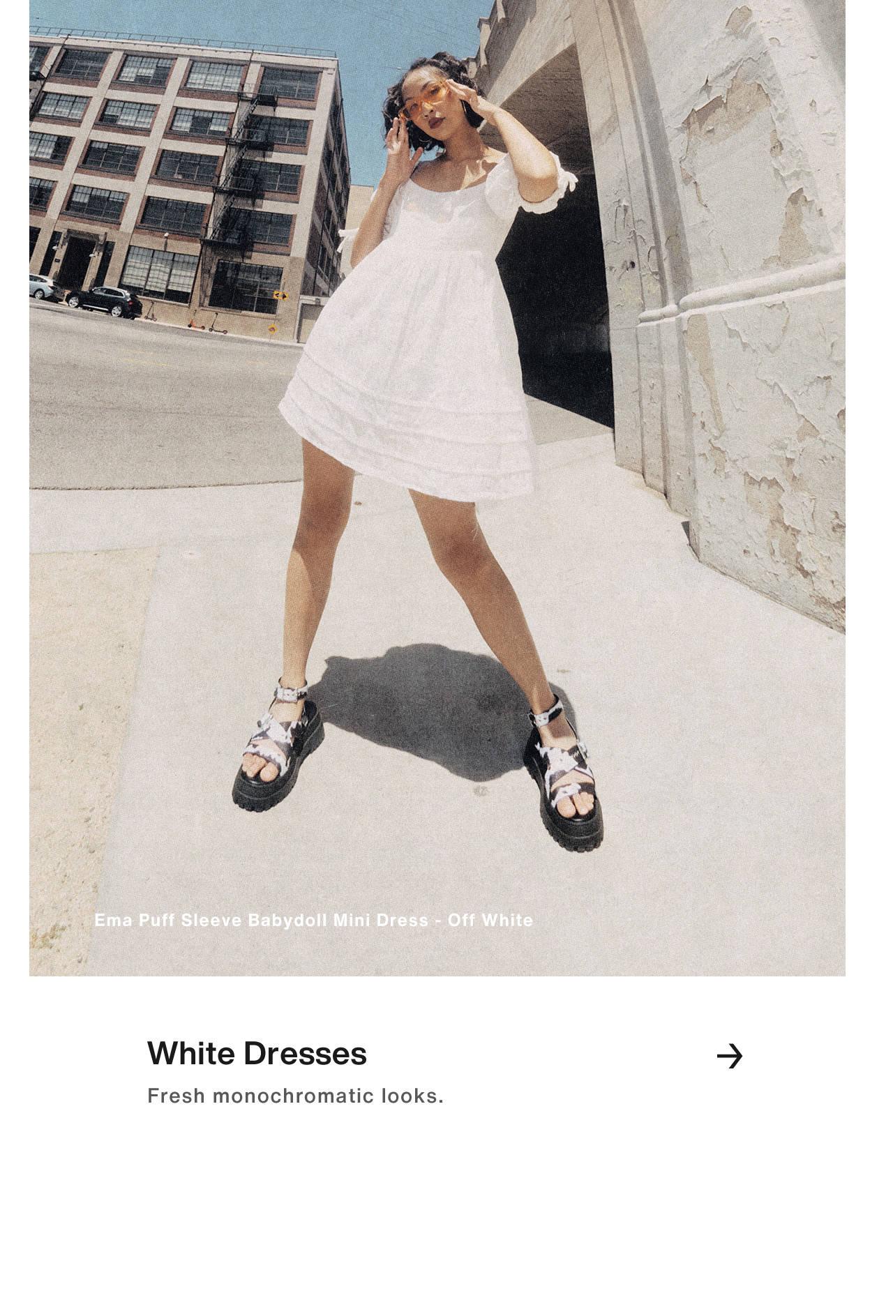 White Dresses - Effortless Style.
