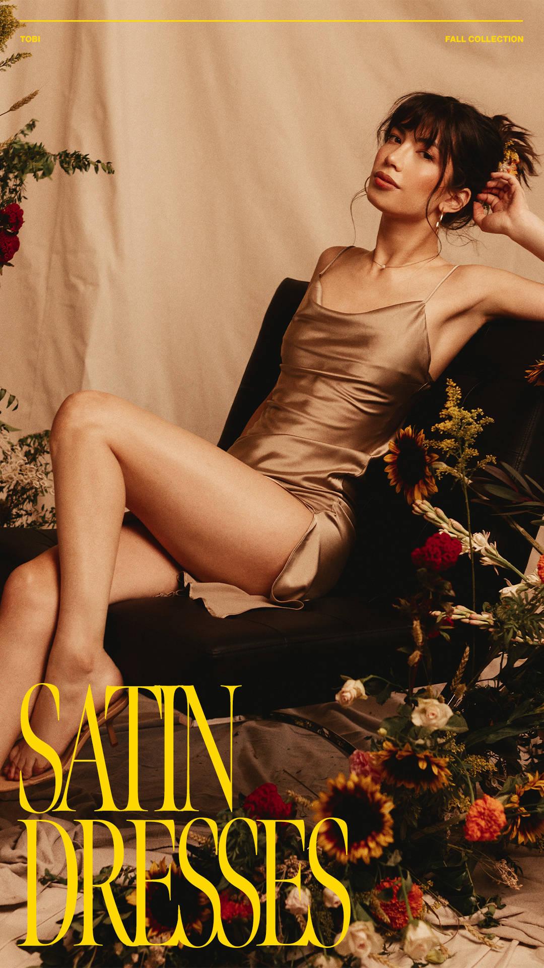 Satin Dresses - silky-smooth