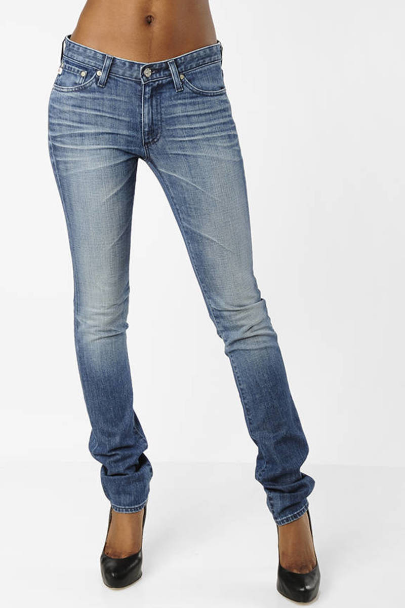 563d22e730f Blue Ag Adriano Goldschmied Jeans - Straight Leg Jeans - Blue Jeans ...