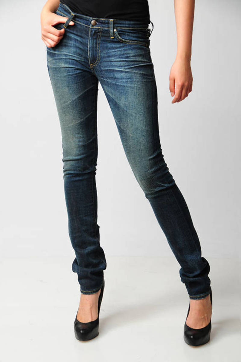 3465d553bae Blue Ag Adriano Goldschmied Jeans - Faded Jeans - Blue Straight Leg ...