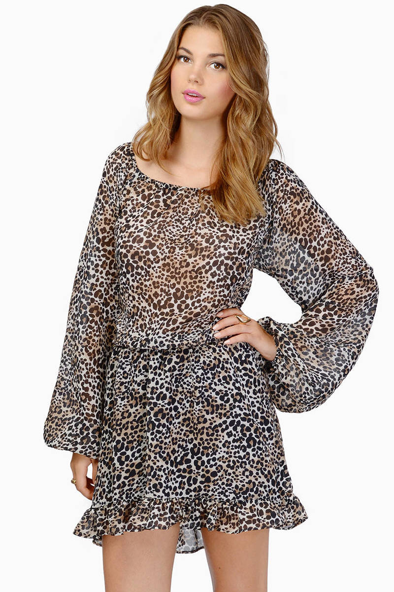 Short cheetah print dresses for prom will fit slim young girls