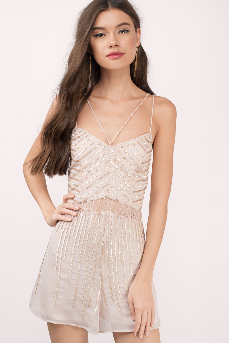 The Jetset Diaries The Jetset Diaries Byzantine Bare Blush Sequin Romper