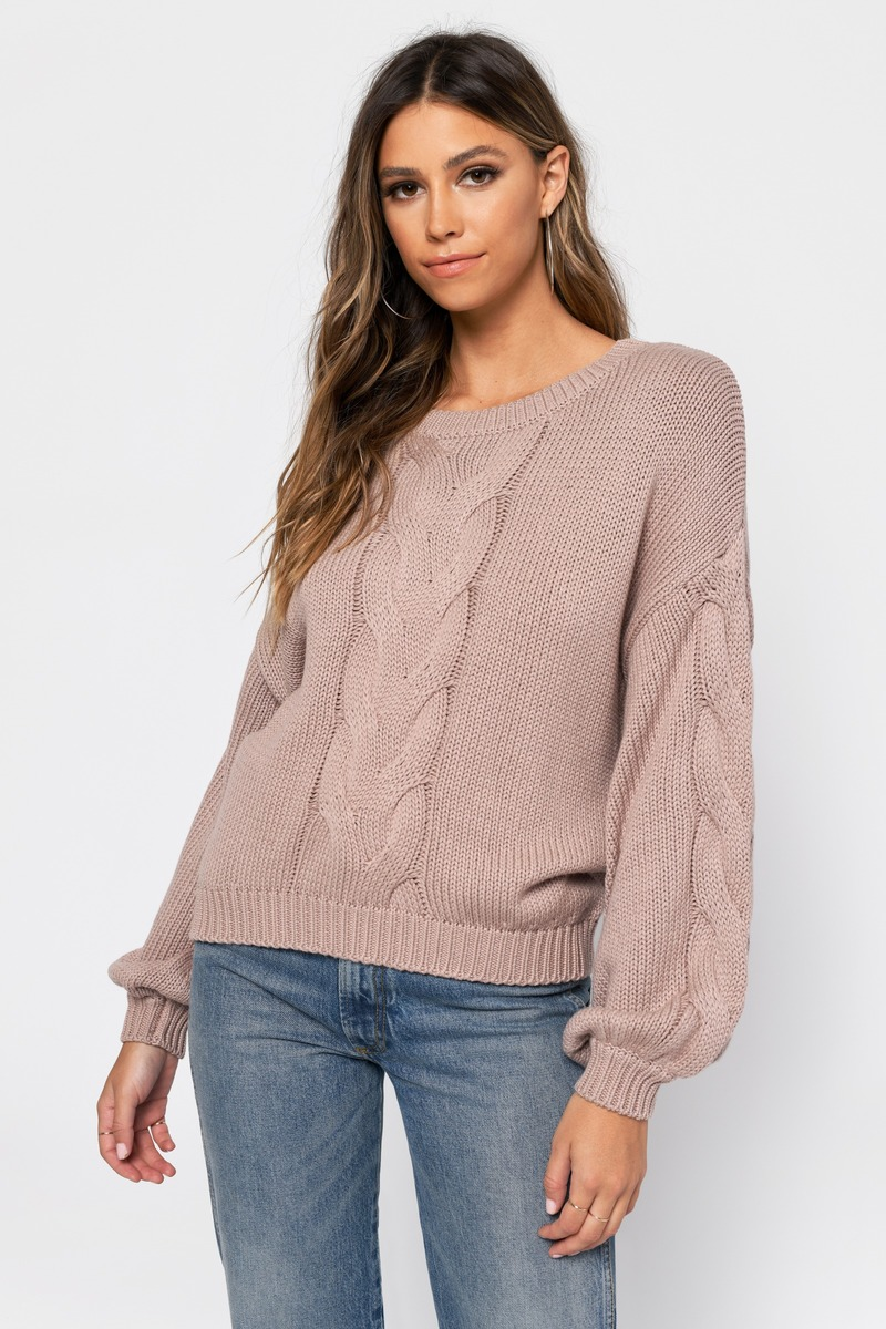 ad37331f96 Beige Sweater - Cable Knit Sweater - Beige Chunky Sweater - NZ  63 ...