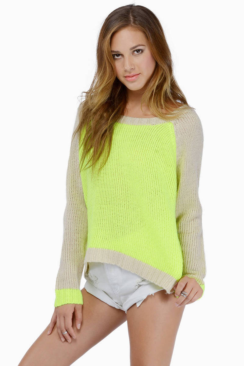 Can't Compete Olive & Cream Knitted Sweater