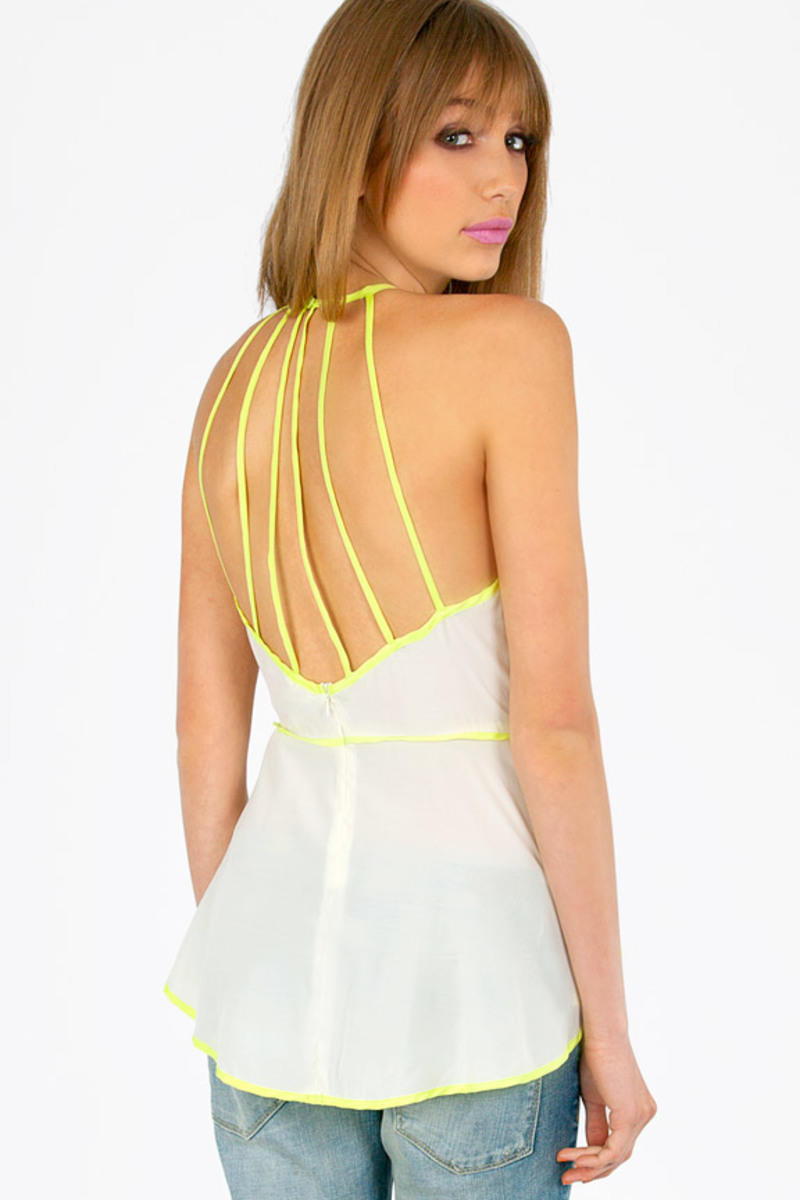 Strappy Hi-Lo Peplum Top