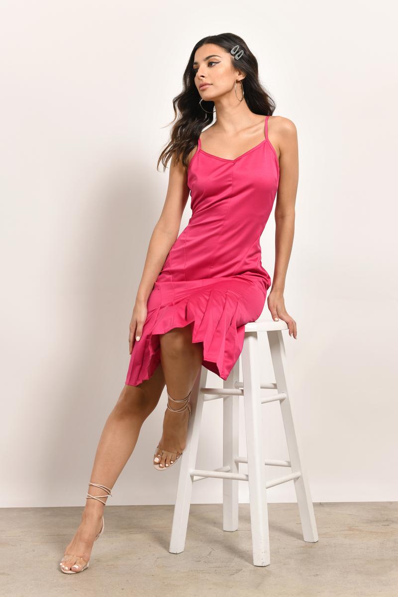 Bad Romance Berry Midi Dress
