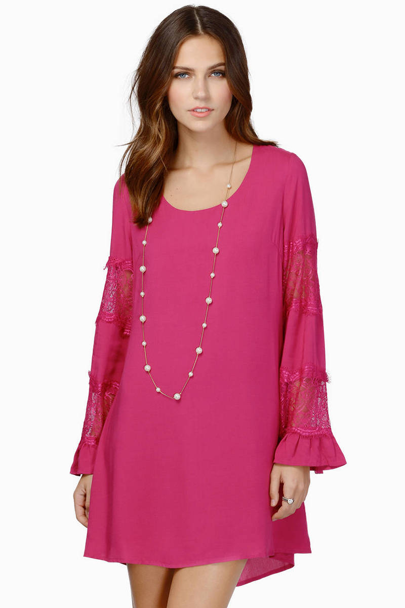 La Belle Berry Shift Dress