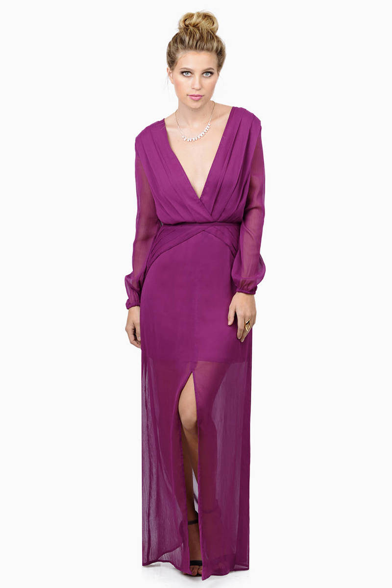 Light Up The Room Berry Maxi Dress