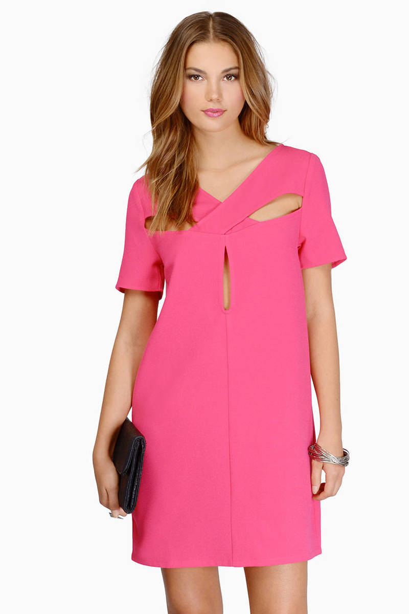 Piece Of Cake Berry Shift Dress