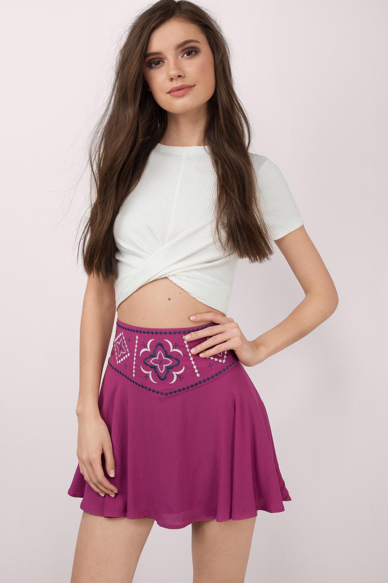 Simple Saturday Night Berry Skirt