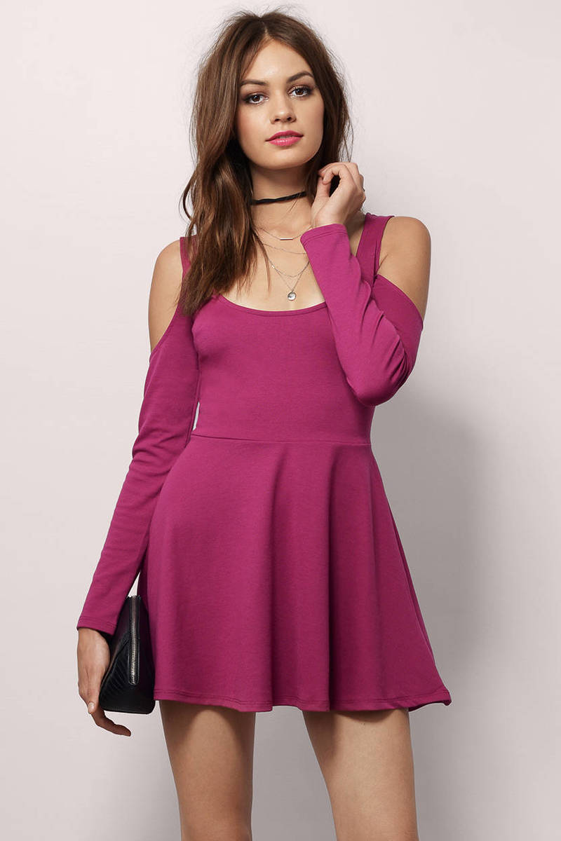 Viva Berry Skater Dress