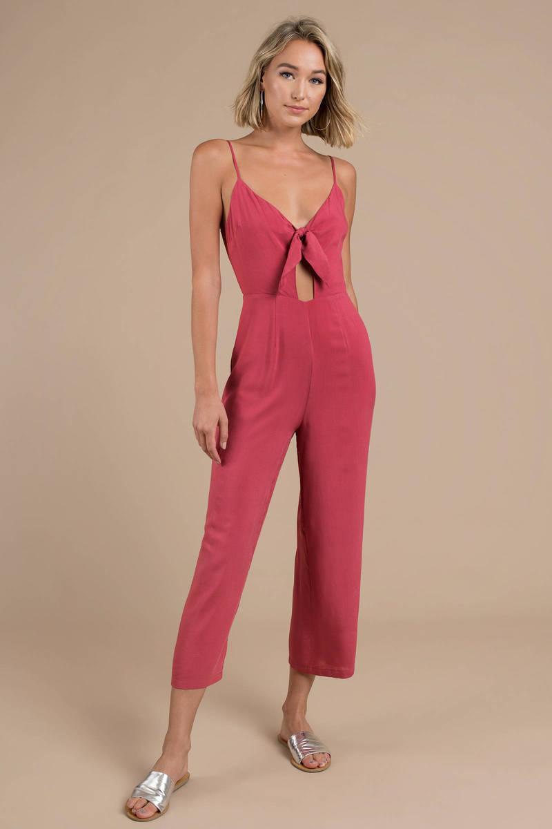 014da39d6e6 Woman Renegade Berry Tie-Front Jumpsuit -  32