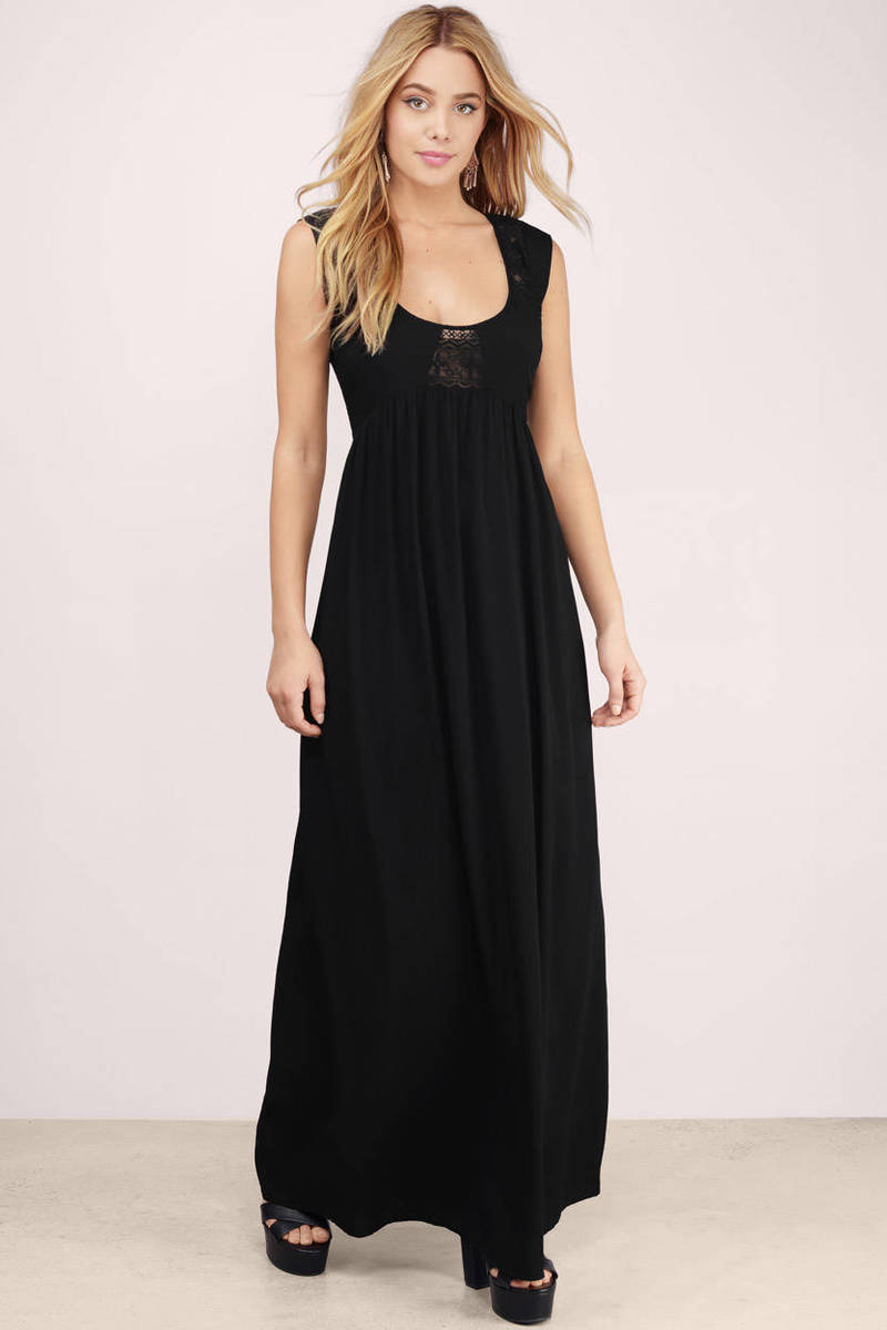 A Sight Worth Seeing Black Maxi Dress