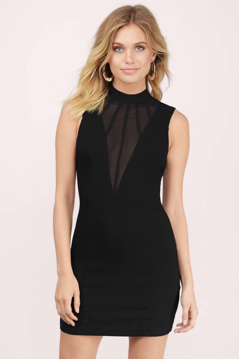 Ace Black Bodycon Dress