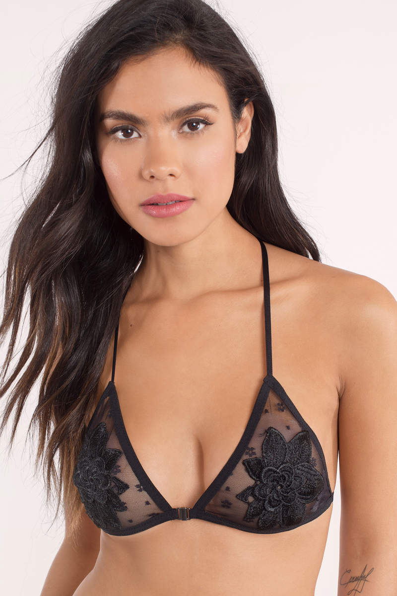 Adalyn Black Mesh Bralette