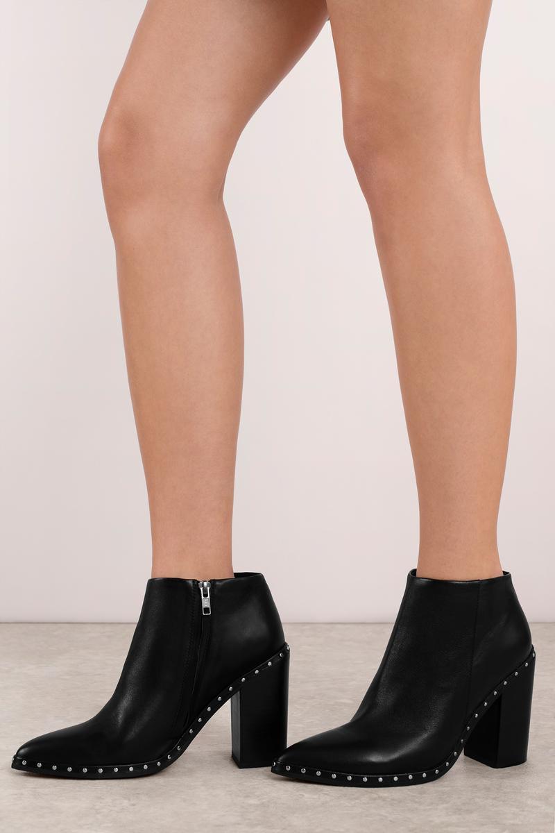 Sol Sana Sol Sana Ajax Black Leather Heeled Boots