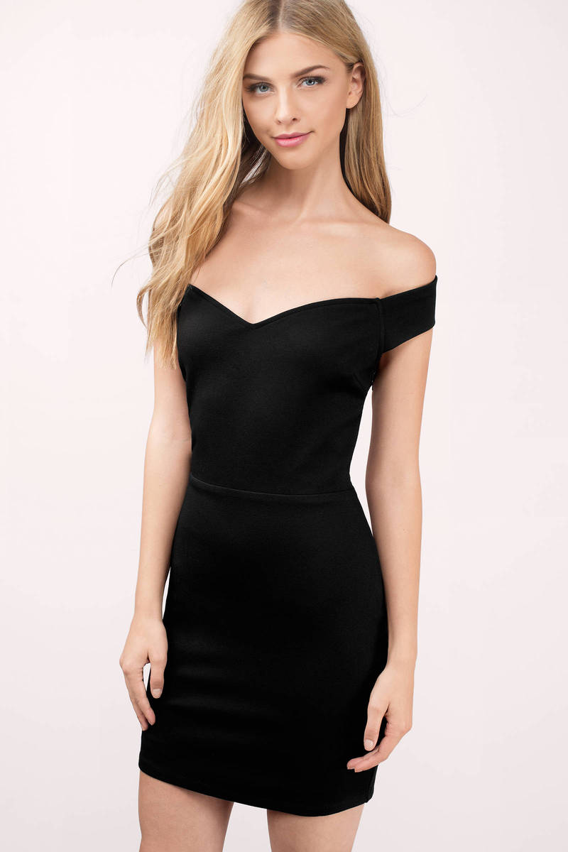 Alannah Black Bodycon Dress