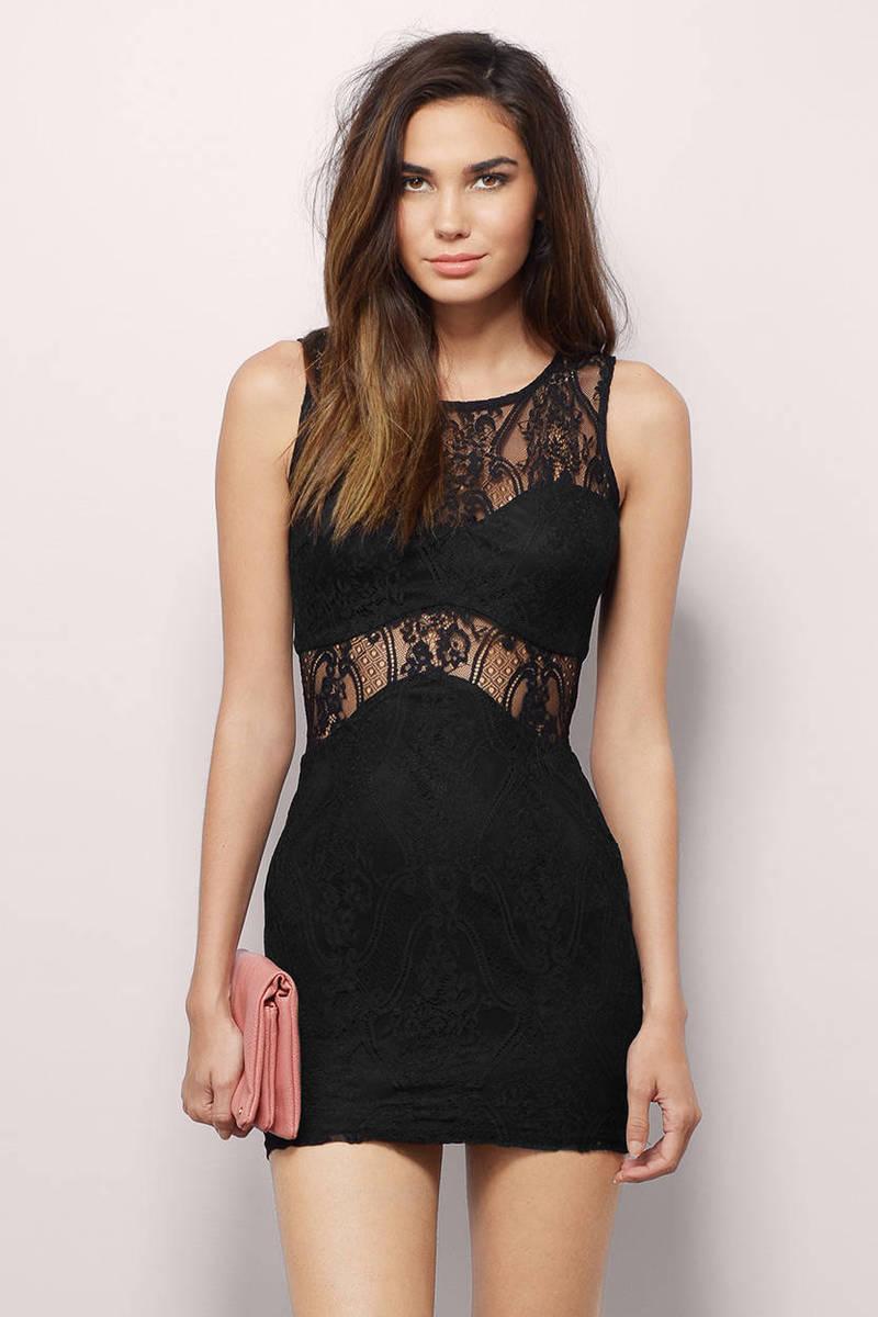 Alayna Lavender Lace Bodycon Dress