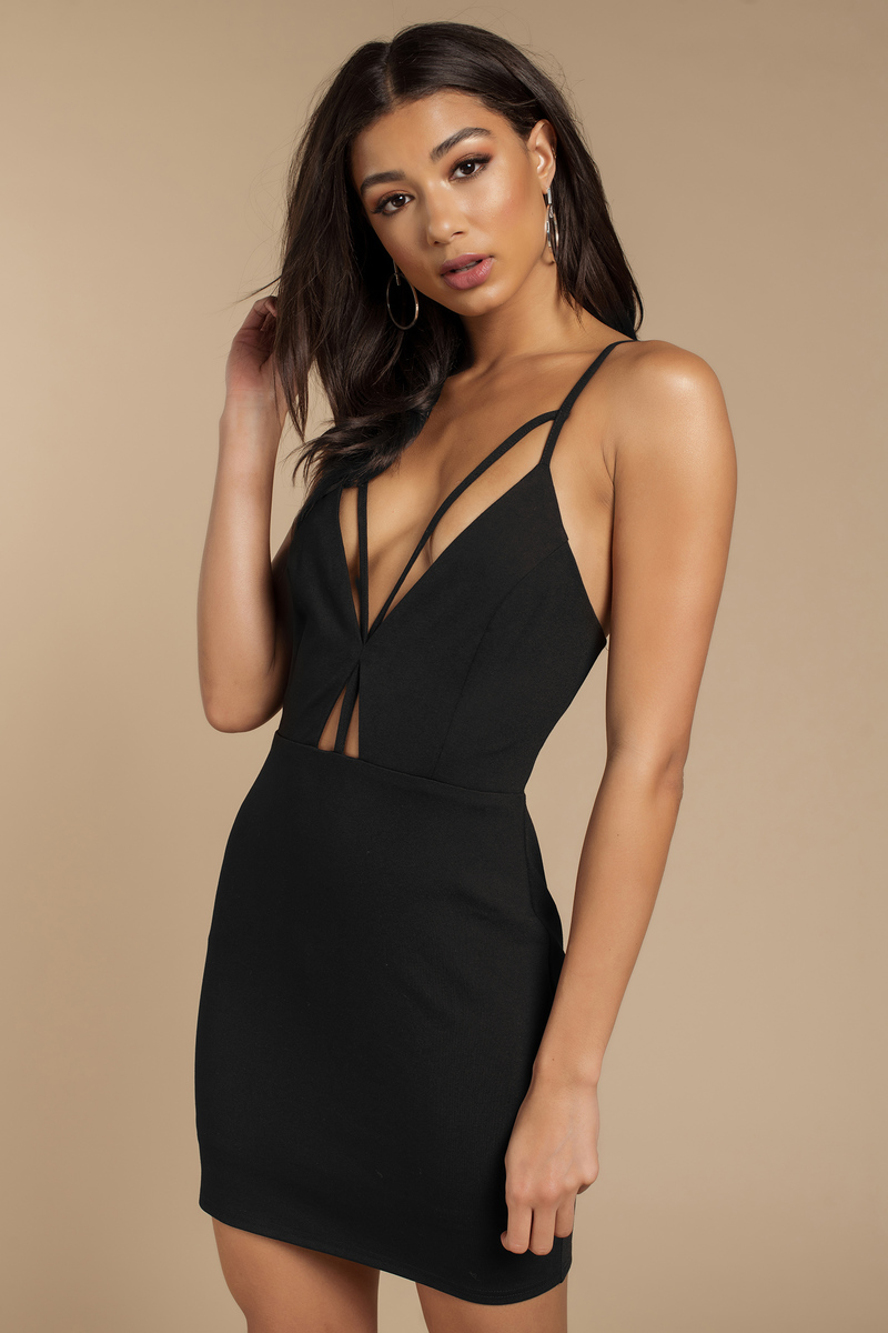 Alesha Black Bodycon Dress