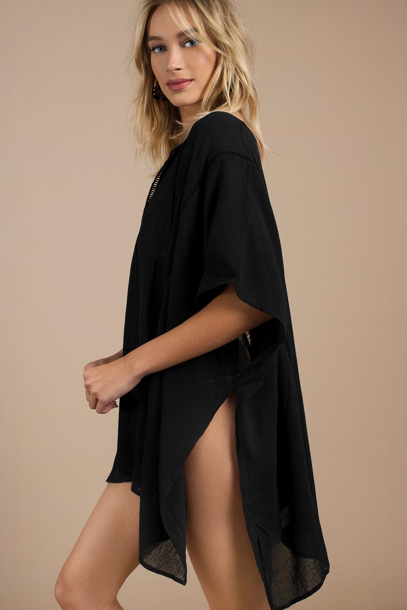 Alexa Black Cover Up Dress