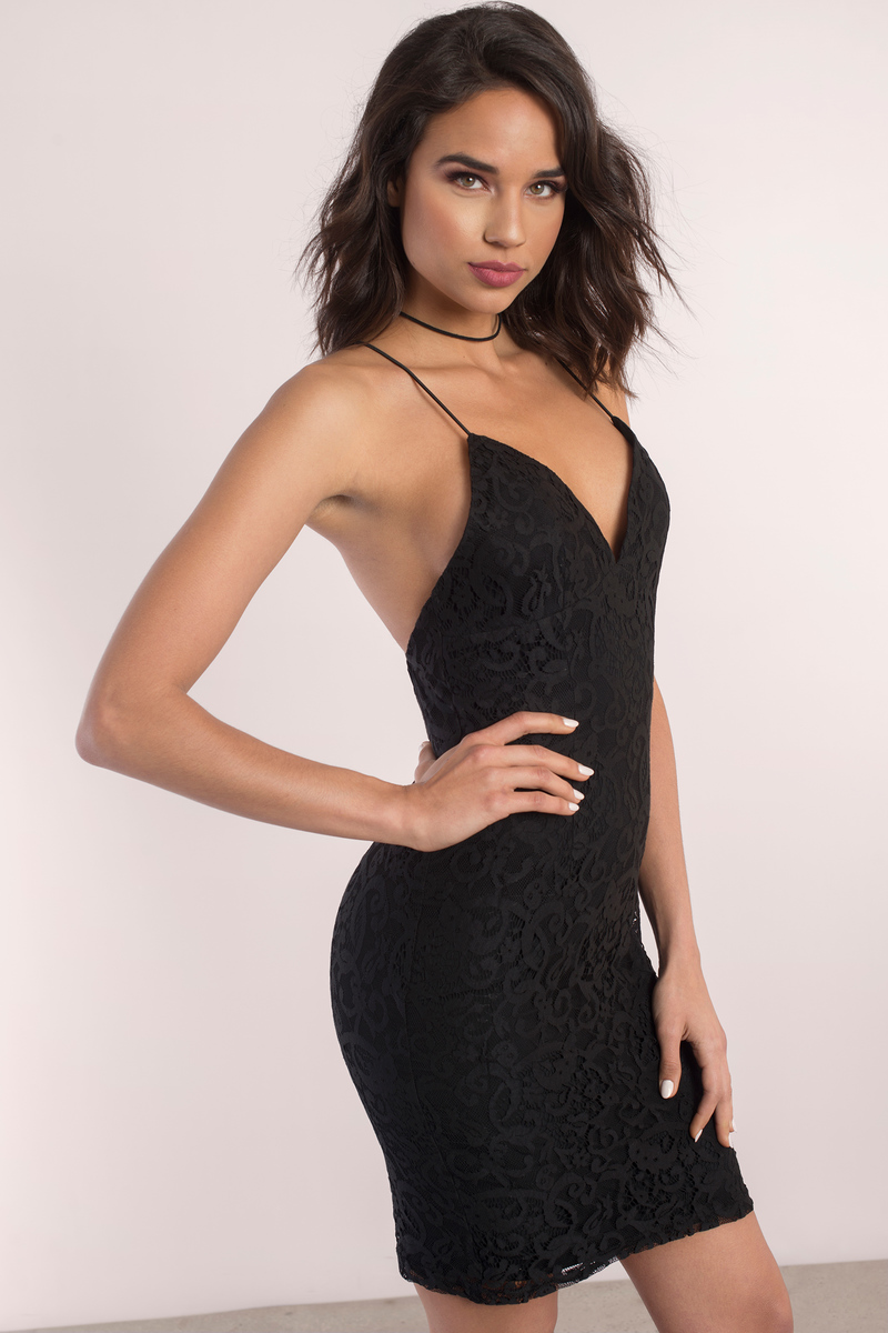 Alice Black Lace Bodycon Dress