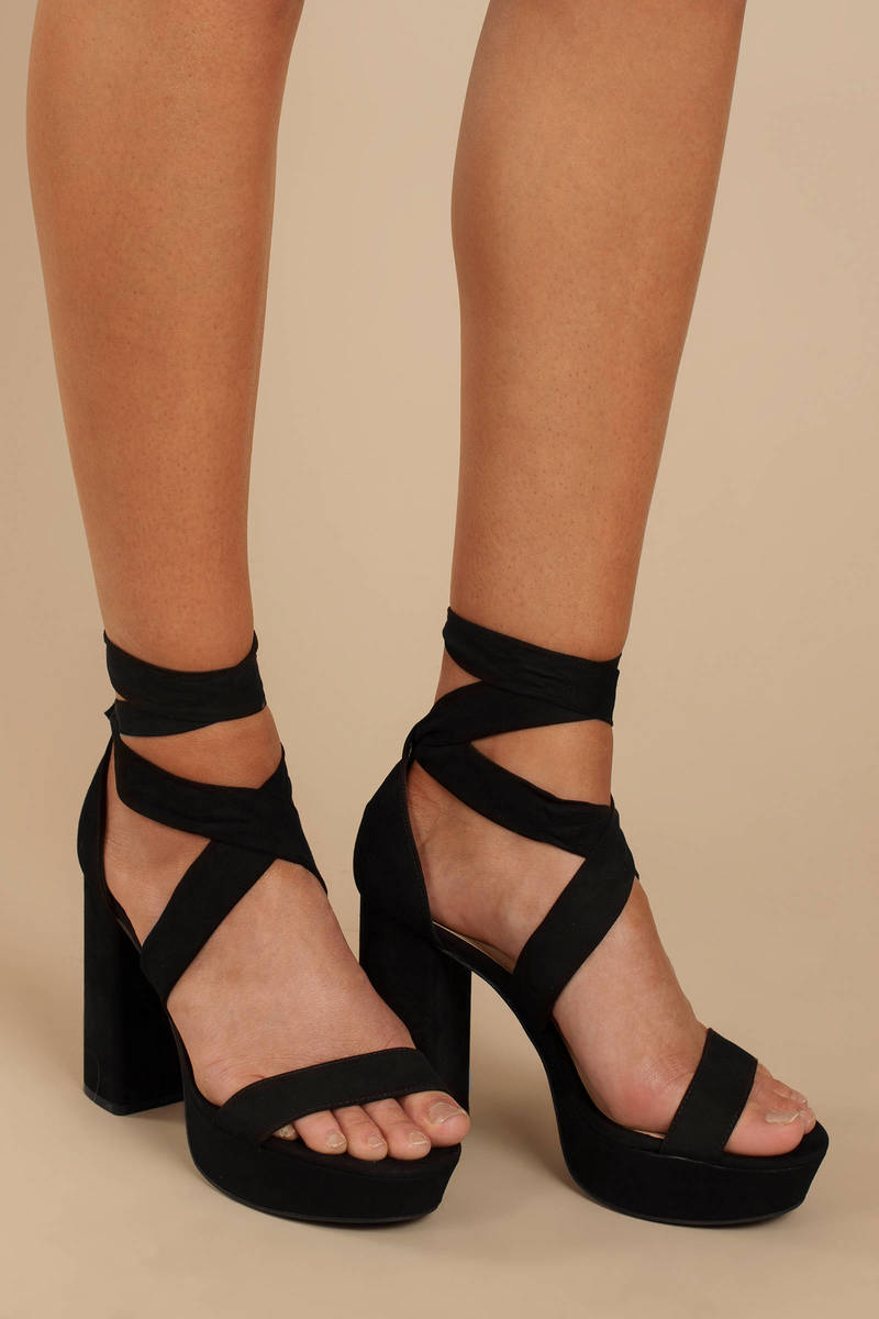 dfb9f7539ff Alice Suede Ankle Tie Heels