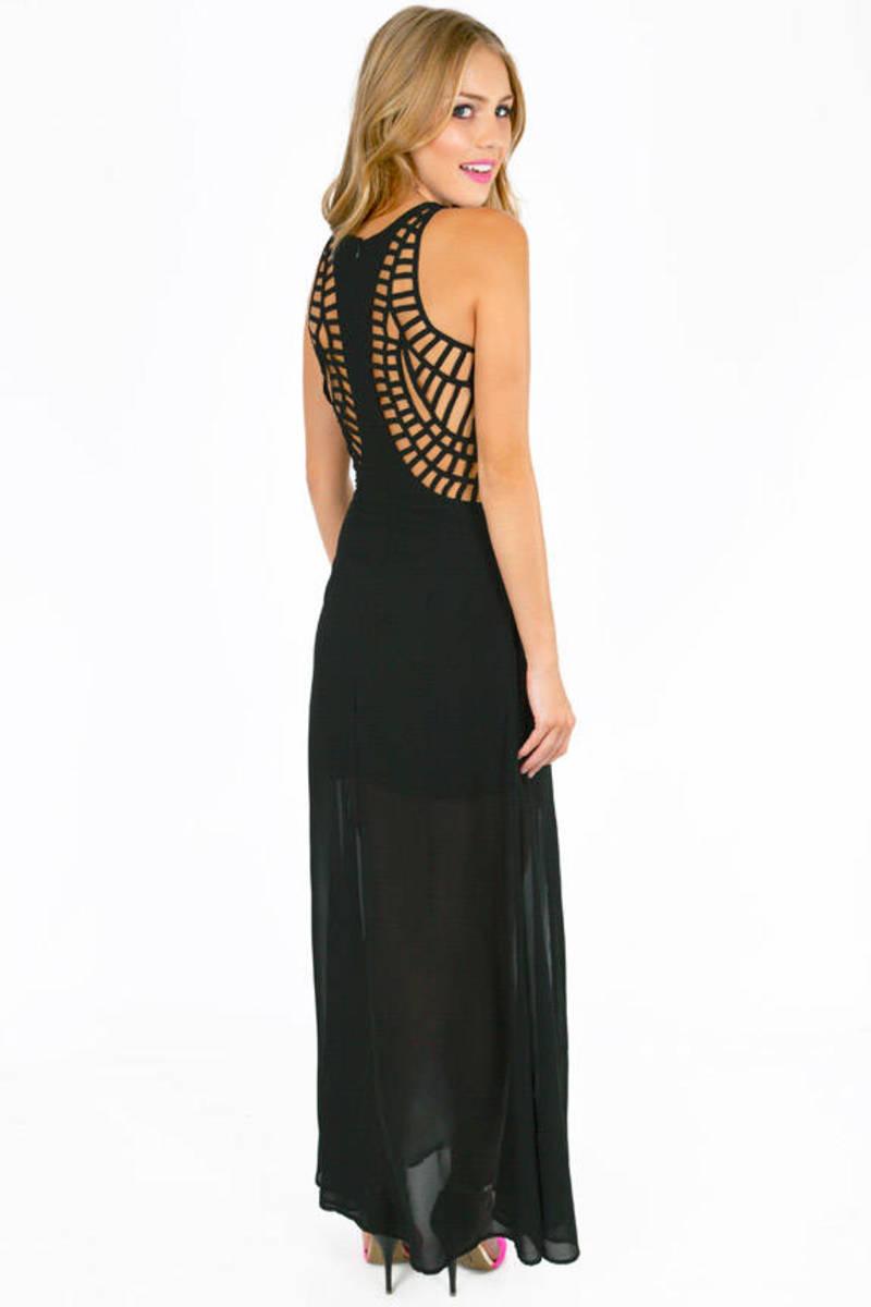 Alicia M Slit Maxi Dress