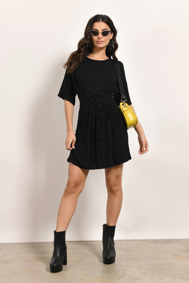 All About That Black Shift Dress