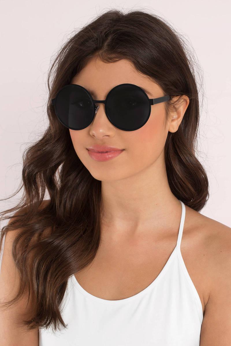 All Around Black Round Sunglasses
