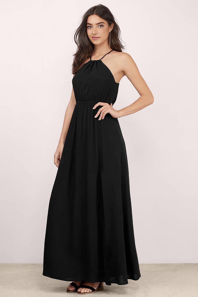 All Eyes On Me Black Maxi Dress