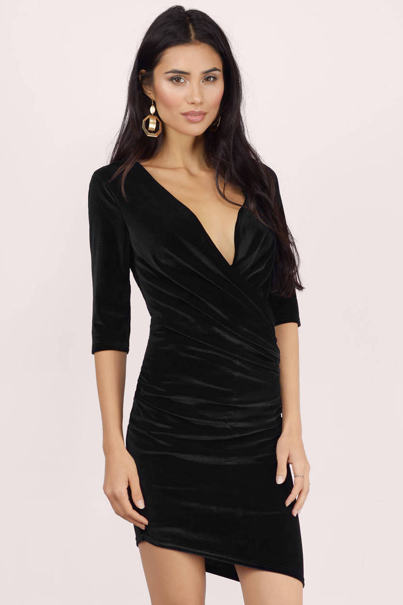All Wrapped Up Velvet Bodycon Dress