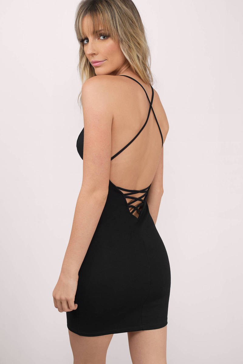 Amalia Black Bodycon Dress