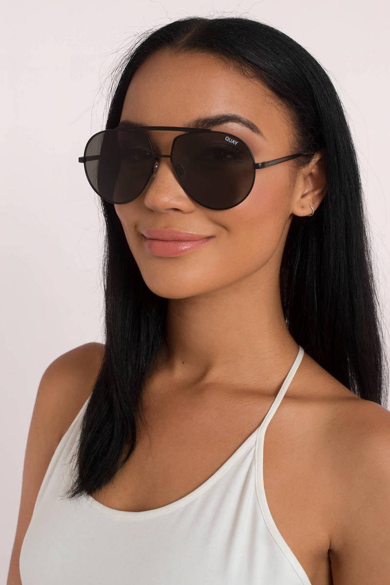 374526248a Quay Blaze Black And Green Sunglasses - AU  79