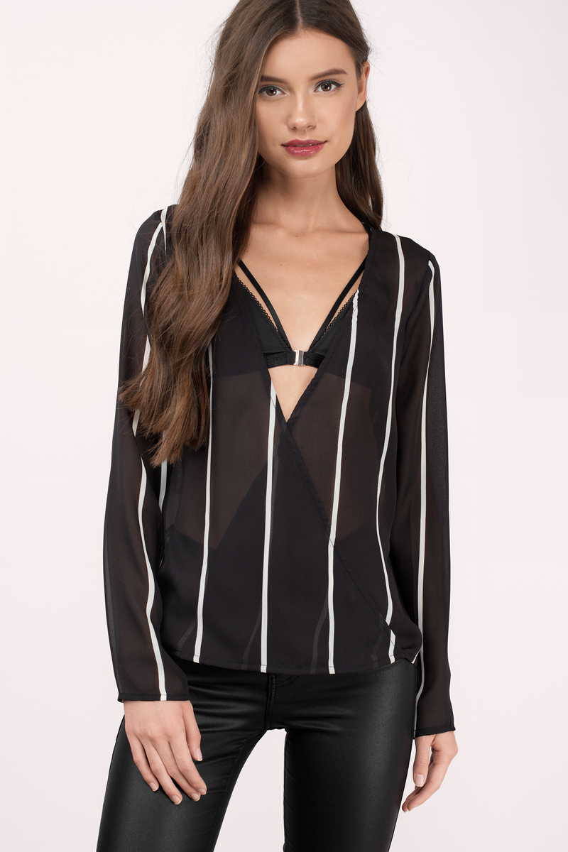 Chrystie Black And White Blouse