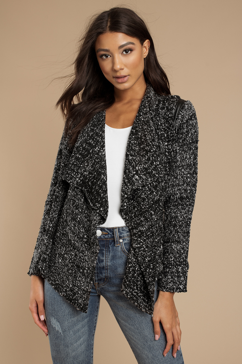 Anna Black Knitted Cardigan
