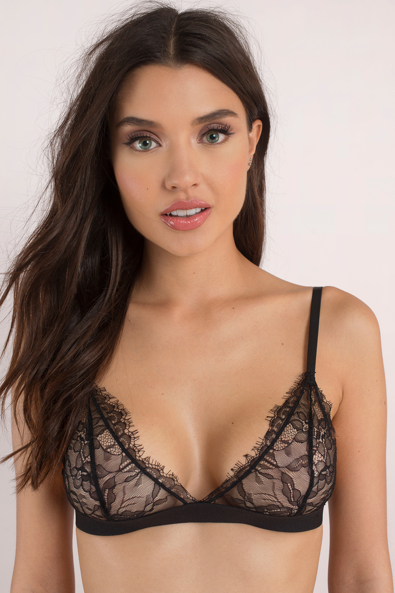 cdf1c4ca737d96 Cute Black Intimates - Lace Intimates - Eyelash Bralette - Black Bra ...