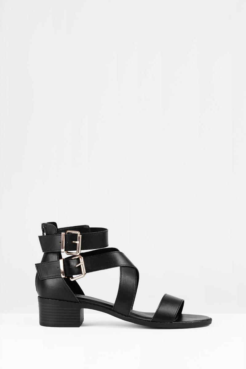 April Natural  Open Toe Criss Cross Strap Buckle Sandals