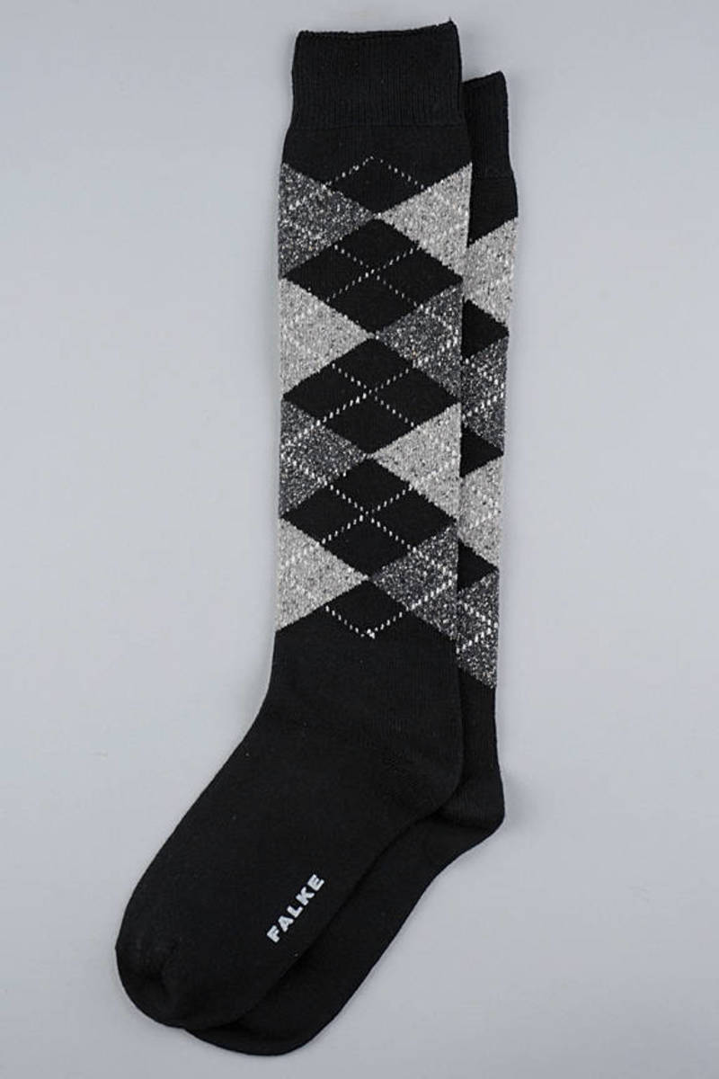 8426c892d10 Black Argyle Knee High Socks -  14