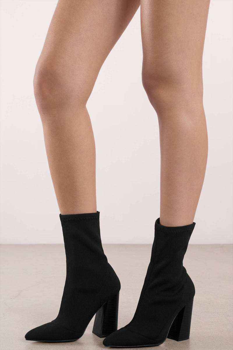 buy \u003e black knitted sock boots, Up to