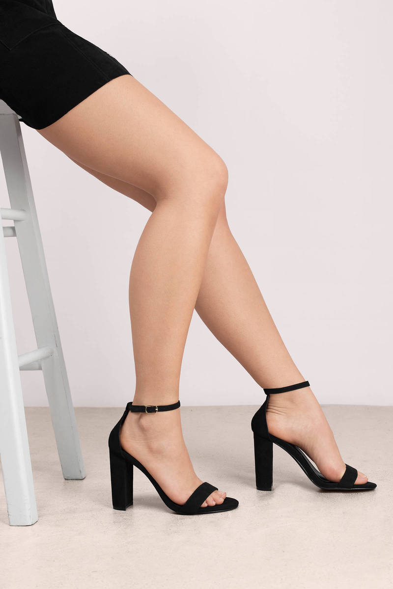 Arianna Natural Suede Ankle Strap Heels