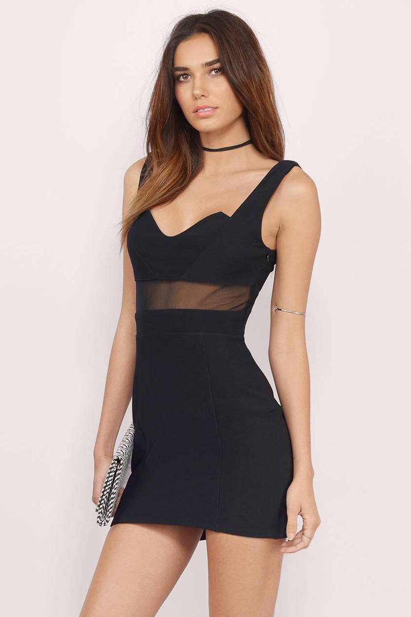As I Recall Black Bodycon Dress