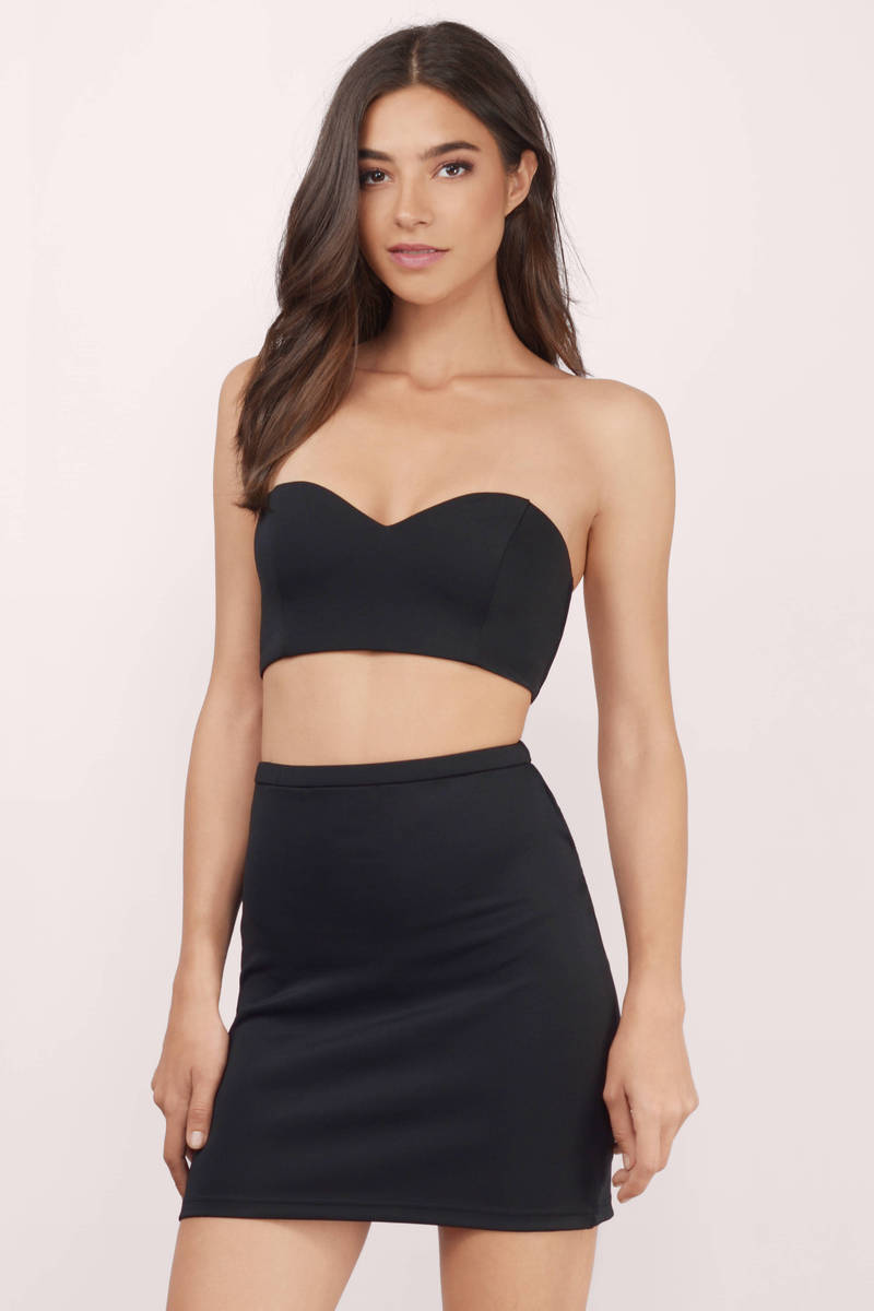 3c7b87d0ed0e Cheap Black Bodycon Dress - Two Piece Dress - Bodycon Dress - $10 ...
