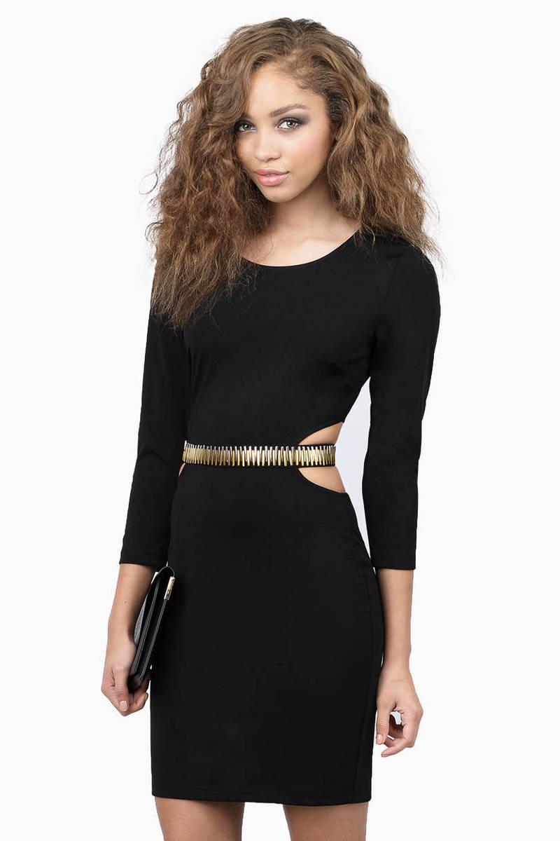 Back Off Ivory Bejeweled Mini Bodycon Dress