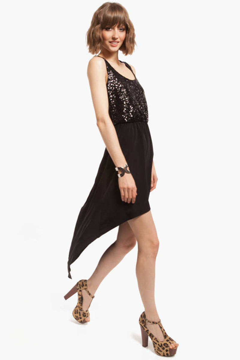 Bare My Heart Black Sequin Maxi Dress