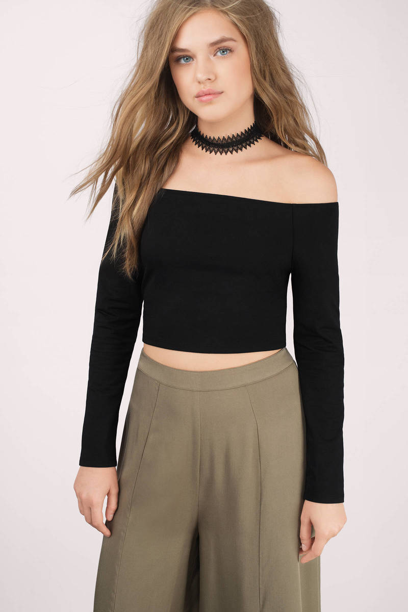 Barely There Black T-Shirt
