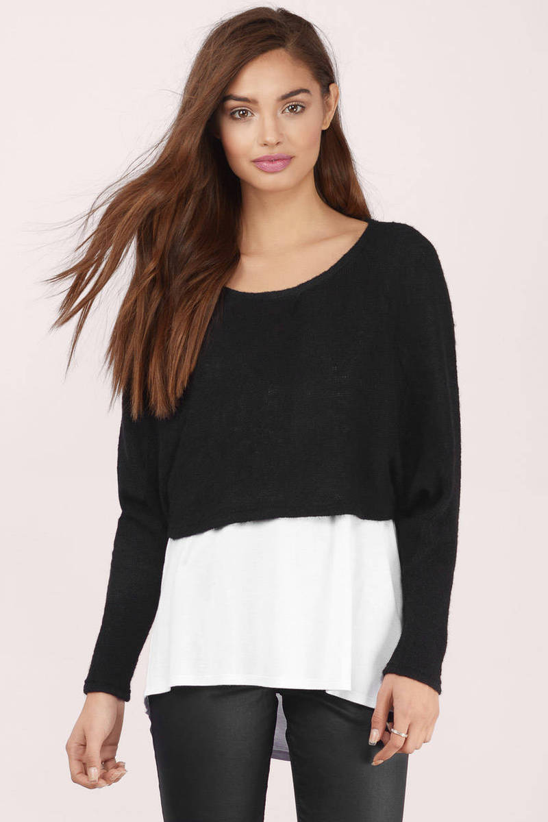 Beach Days Black Sweater