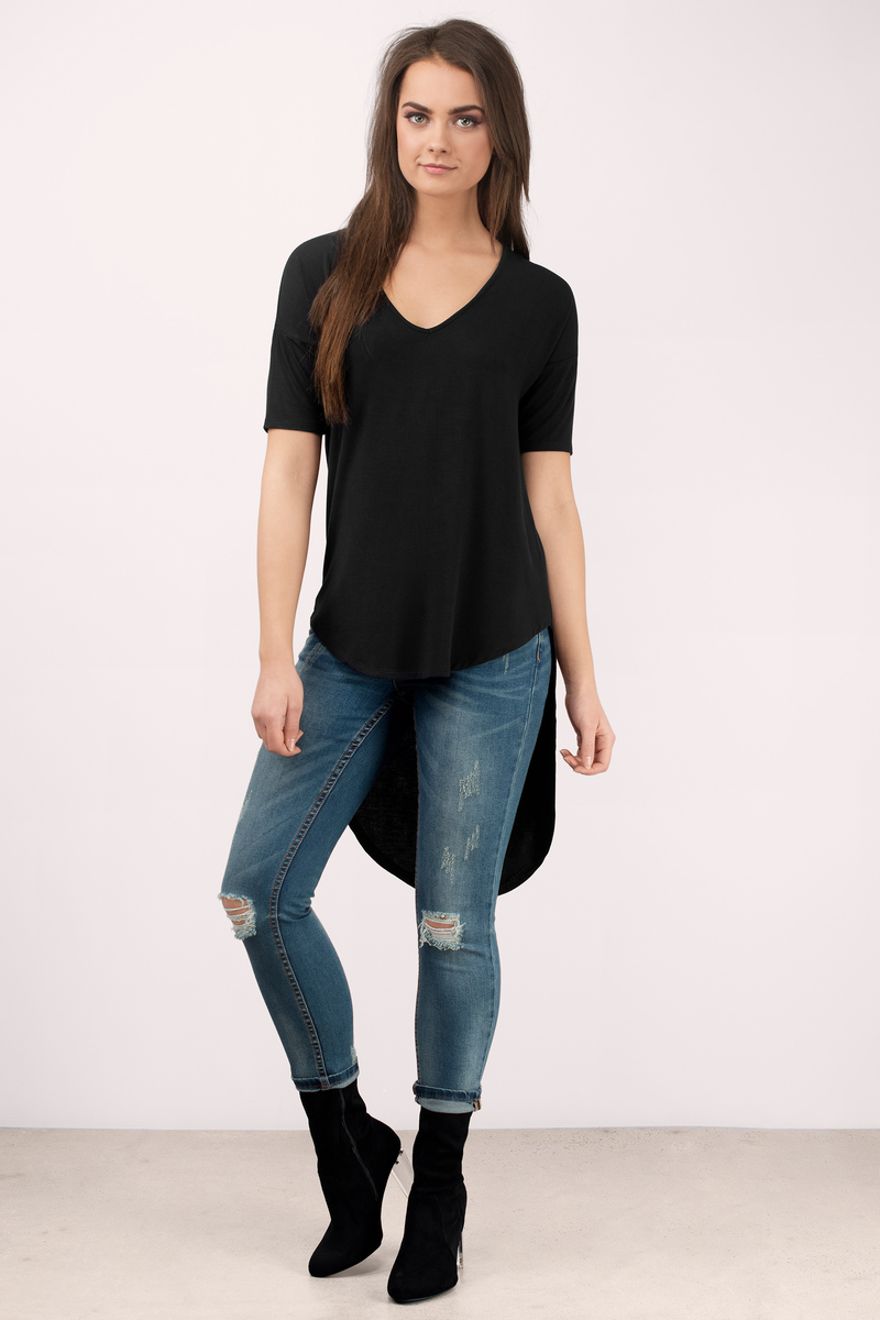 Trendy Black Tee Shirt